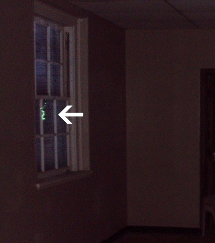 Green Light Anomaly in Window