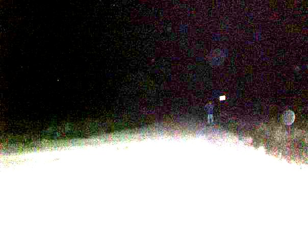 Full Body Apparition by Sign on the Road